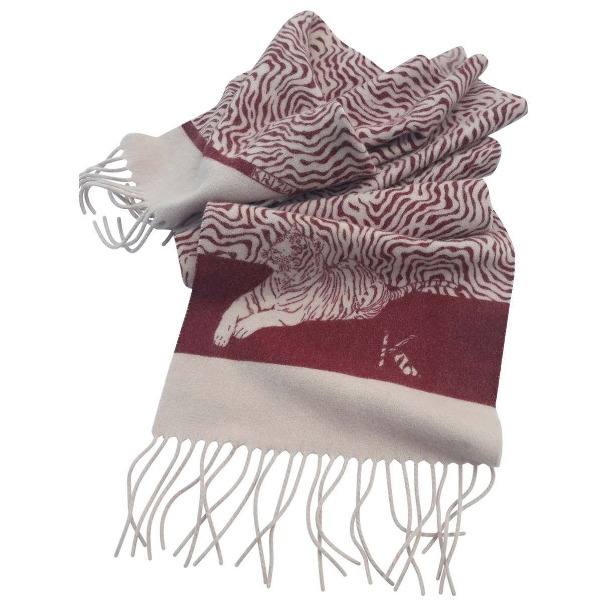 Krizia \N Burgundy Wool scarf for Women \N
