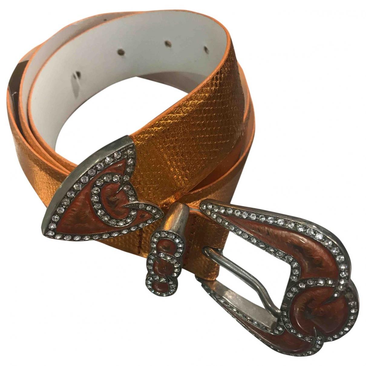 Orciani \N Orange Leather belt for Women 85 cm