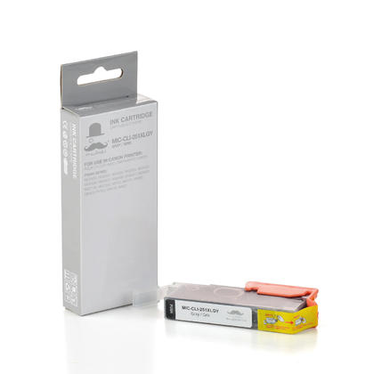 Compatible Canon CLI-251XLGY 6452B001 Grey Ink Cartridge - Moustache@