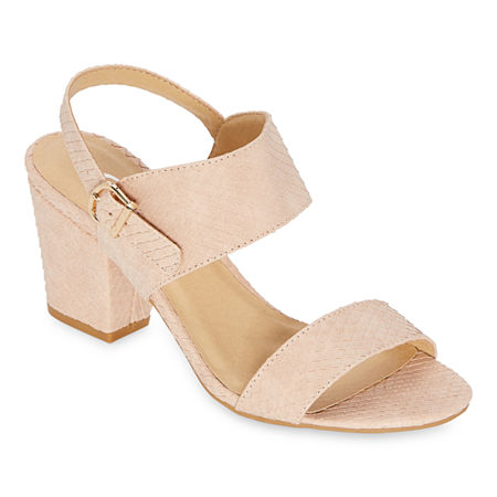 CL by Laundry Womens Shaye Heeled Sandals, 9 1/2 Medium, Pink