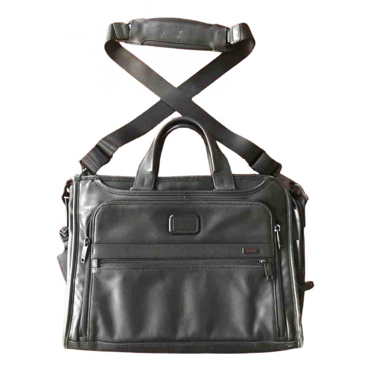 Tumi \N Black Leather bag for Men \N