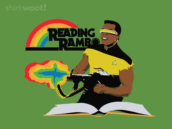 Reading Rambo Remix - Grass T Shirt