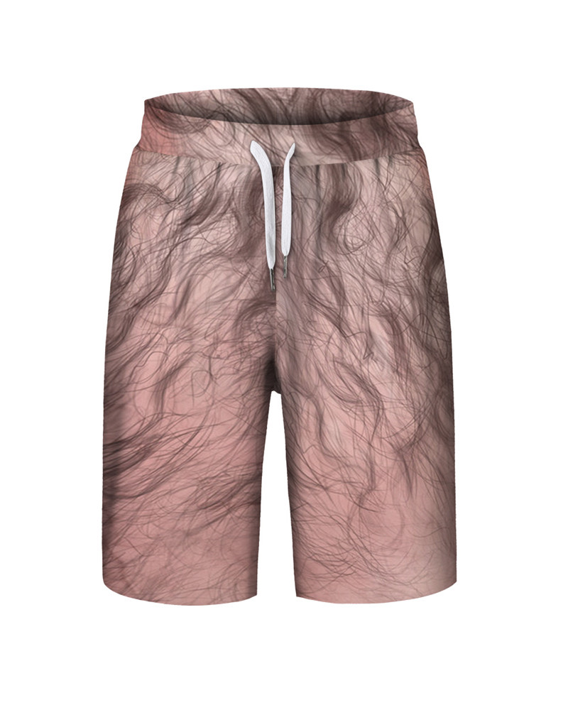 Spring Summer Season Polyester Material 3D Embellishment Beach Shorts
