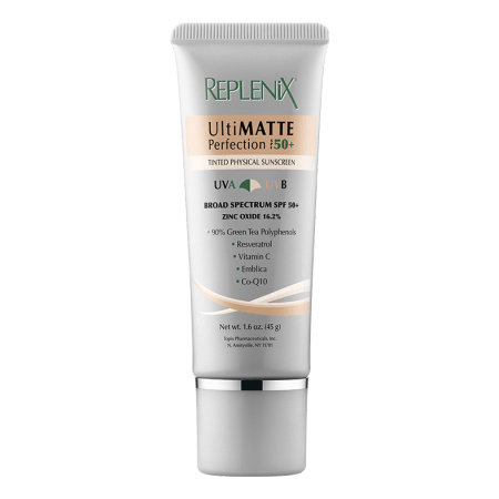 Replenix UltiMATTE Perfection SPF 50+ TINTED PHYSICAL SUNSCREEN (1.6 oz / 45 g)