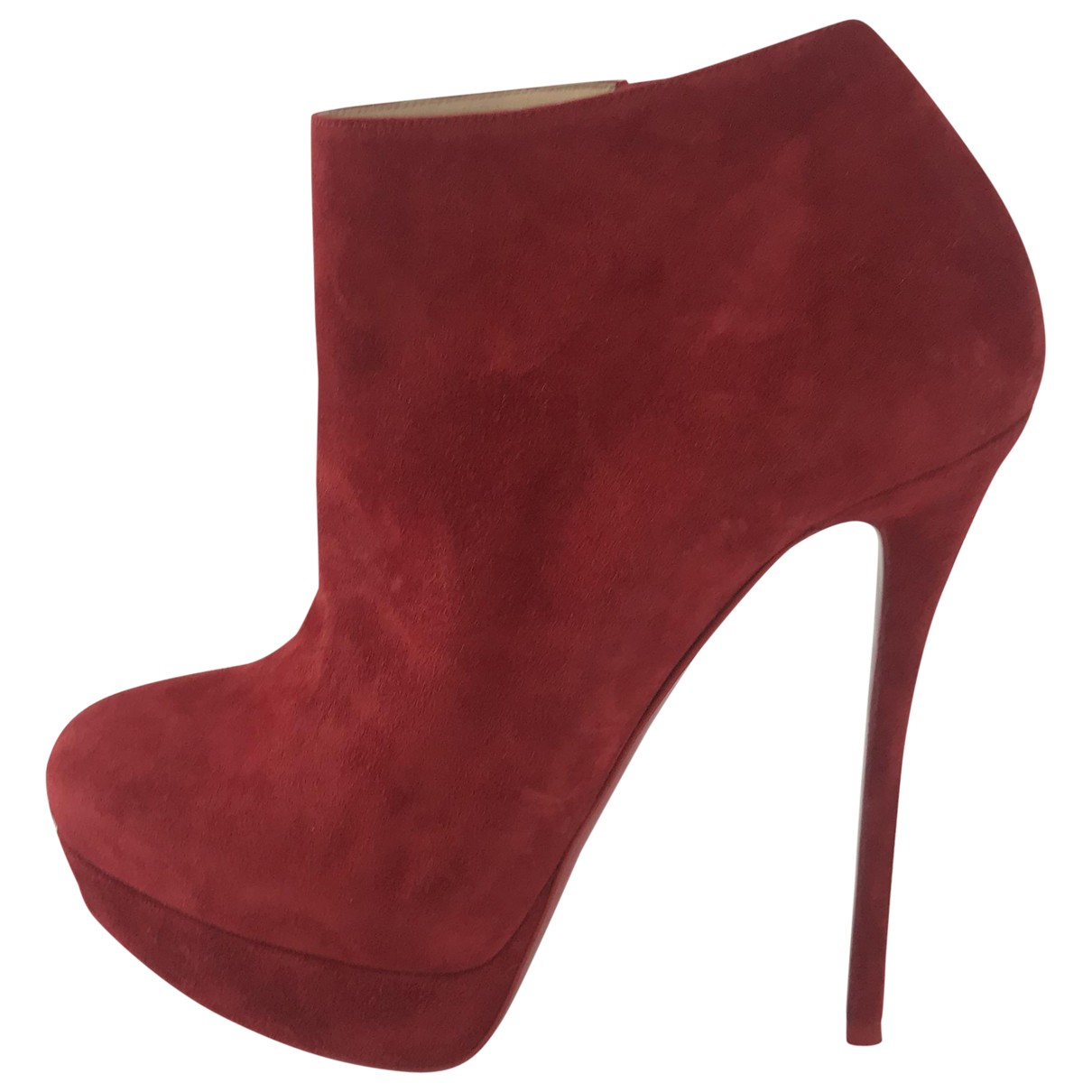 Christian Louboutin \N Red Suede Ankle boots for Women 40 EU