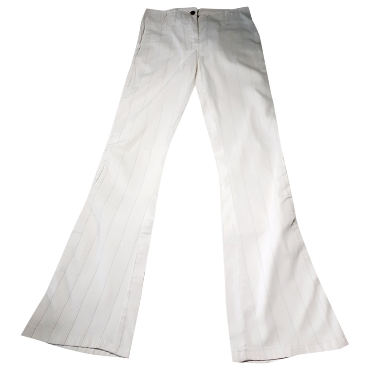 Dkny \N White Cotton Trousers for Kids 12 years - XS FR