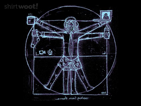 Virtruvian Man T Shirt