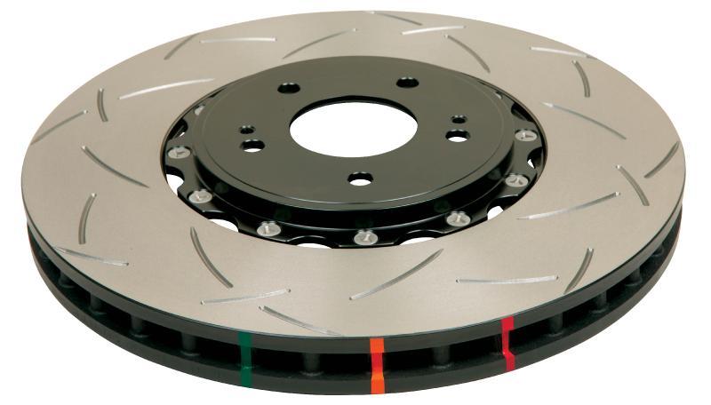Disc Brakes Australia T3 5000 Series Uni-Directional Slotted Rotor, Black Hat Subaru