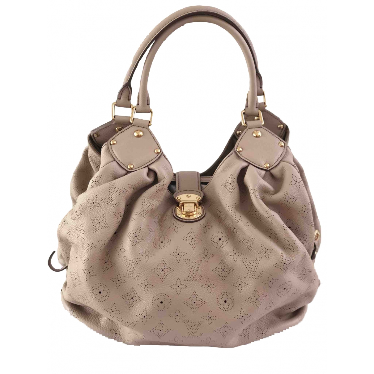Louis Vuitton Mahina Beige Leather handbag for Women \N