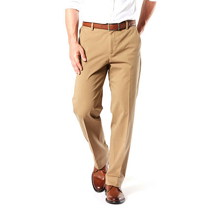 Dockers Big & Tall Classic Fit Workday Khaki Smart 360 Flex Pants D3, 38 36, Beige