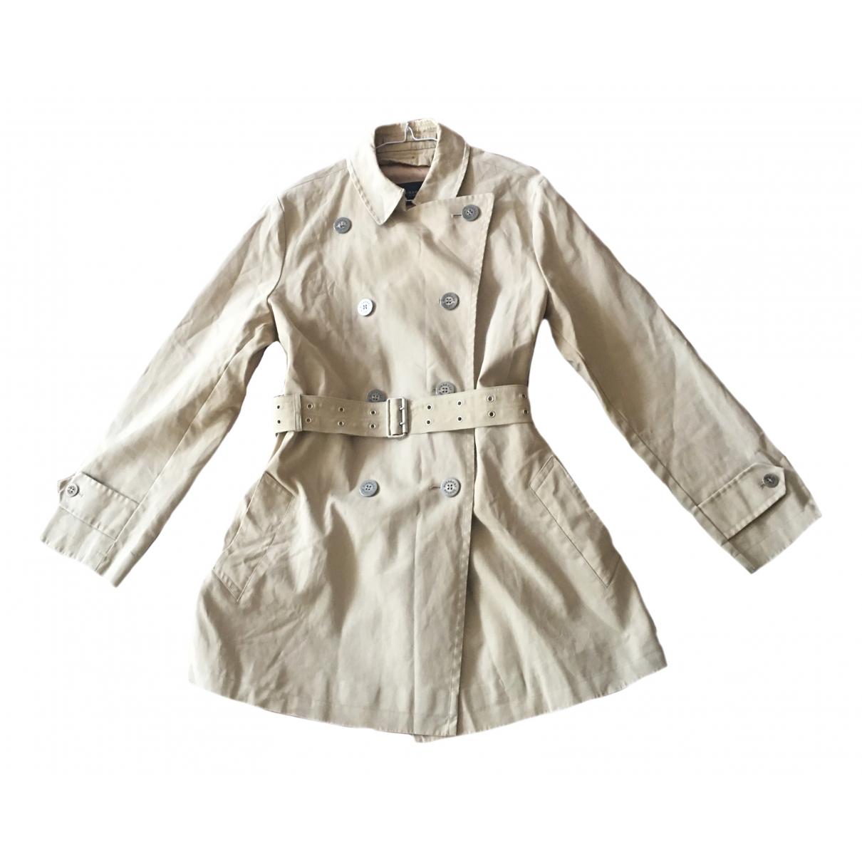 Burberry \N Beige Cotton Trench coat for Women 8 UK