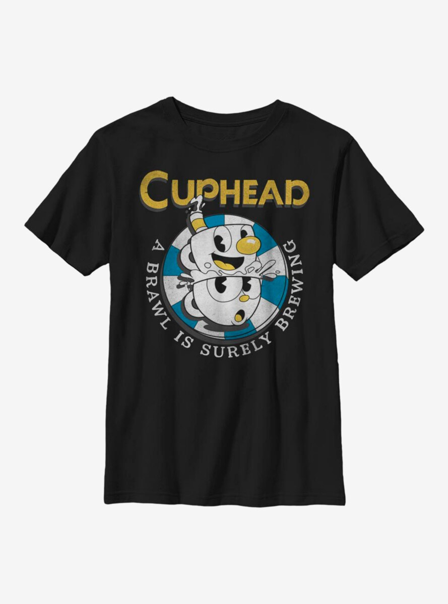 Cuphead Poker Chip Youth T-Shirt