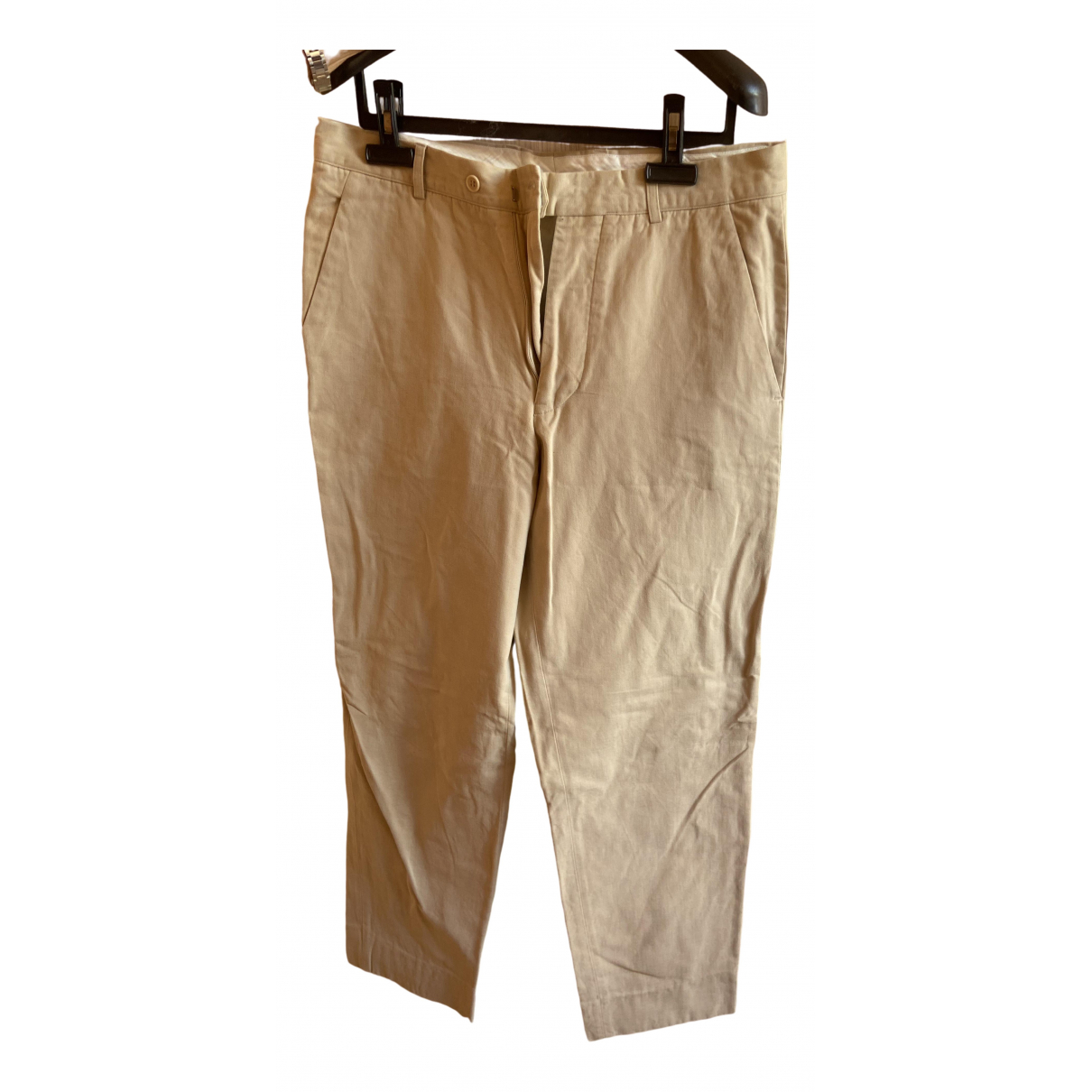 Non Signé / Unsigned \N Beige Cotton Trousers for Men 38 UK - US