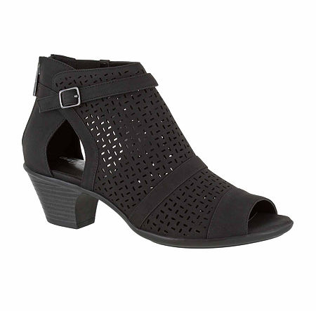 Easy Street Carrigan Womens Slip-On Booties, 10 Medium, Black