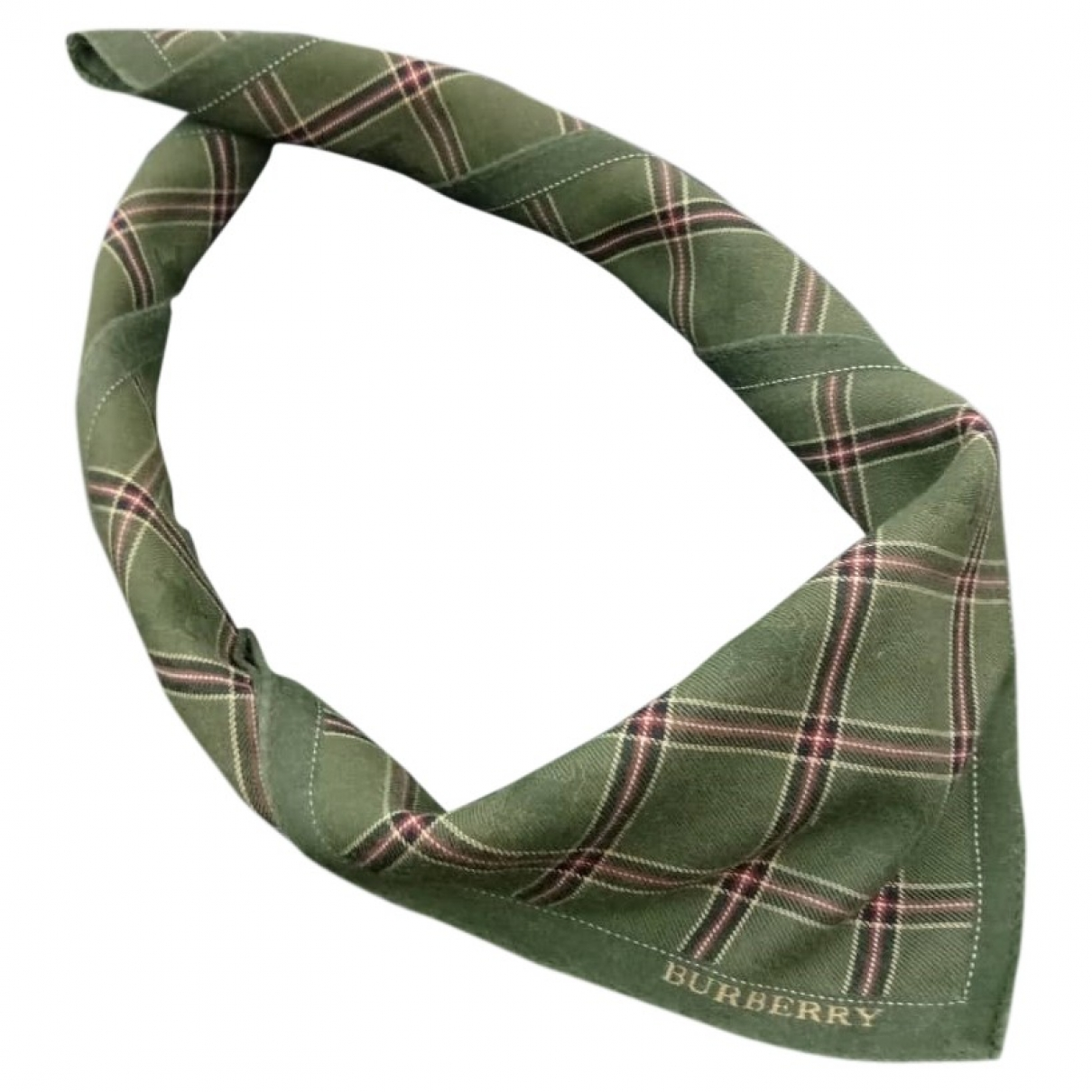 Burberry \N Green Cotton scarf for Women \N