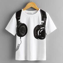 Boys Headset Print Top