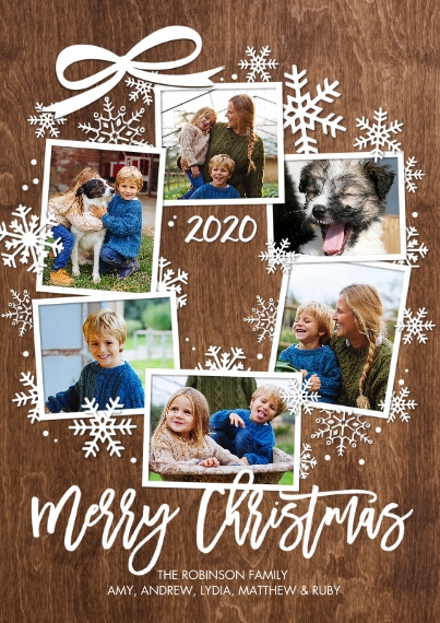 Christmas Photo Cards 5x7 Cards, Premium Cardstock 120lb, Card & Stationery -Christmas 2020 Wreath by Tumbalina