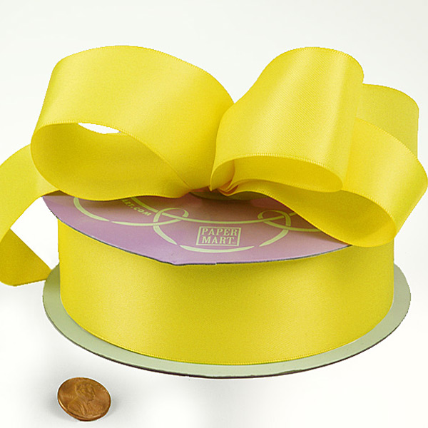 7/8 X 100 Yards Lemon Single Face Satin Ribbon by Ribbons.com
