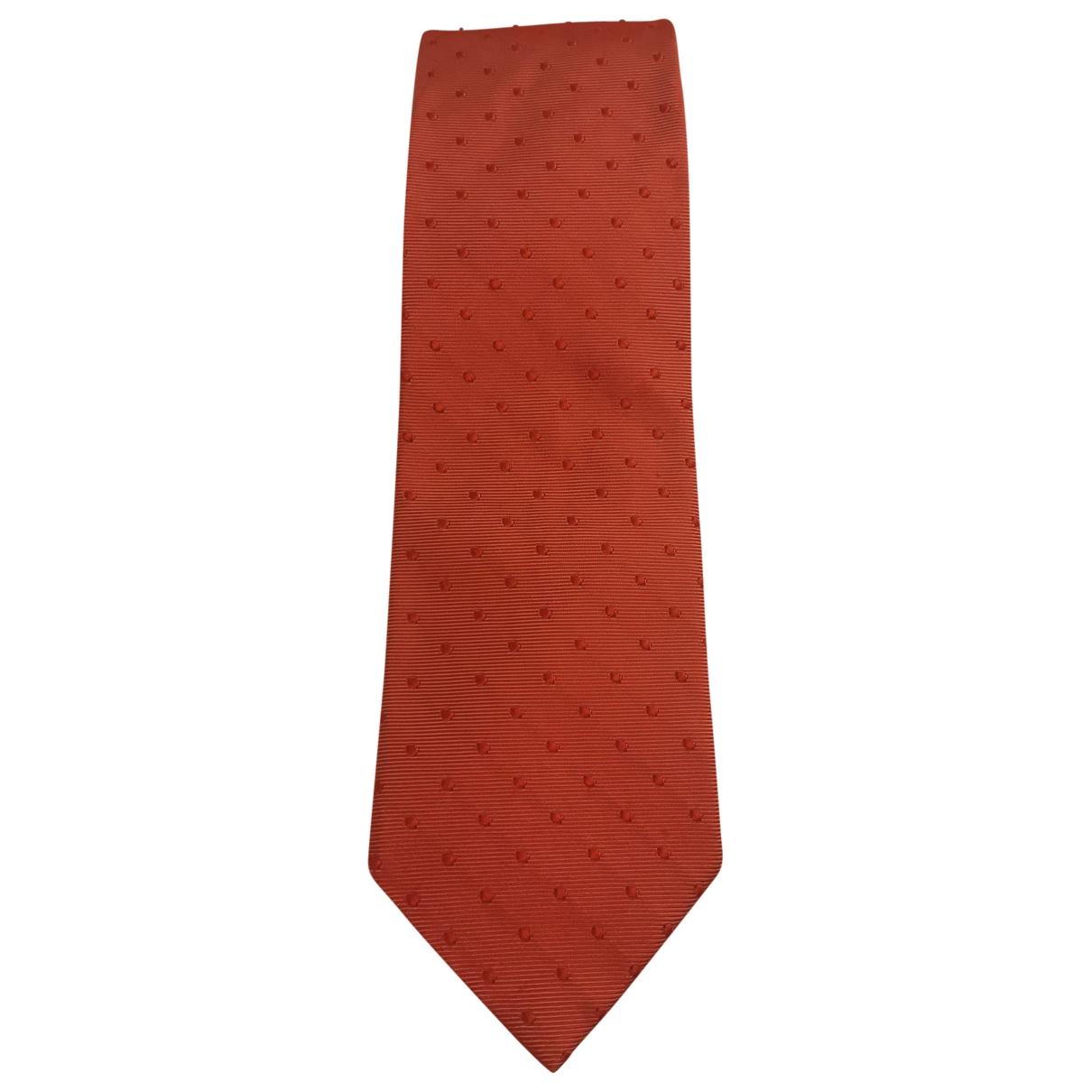 Ermenegildo Zegna \N Orange Silk Ties for Men \N