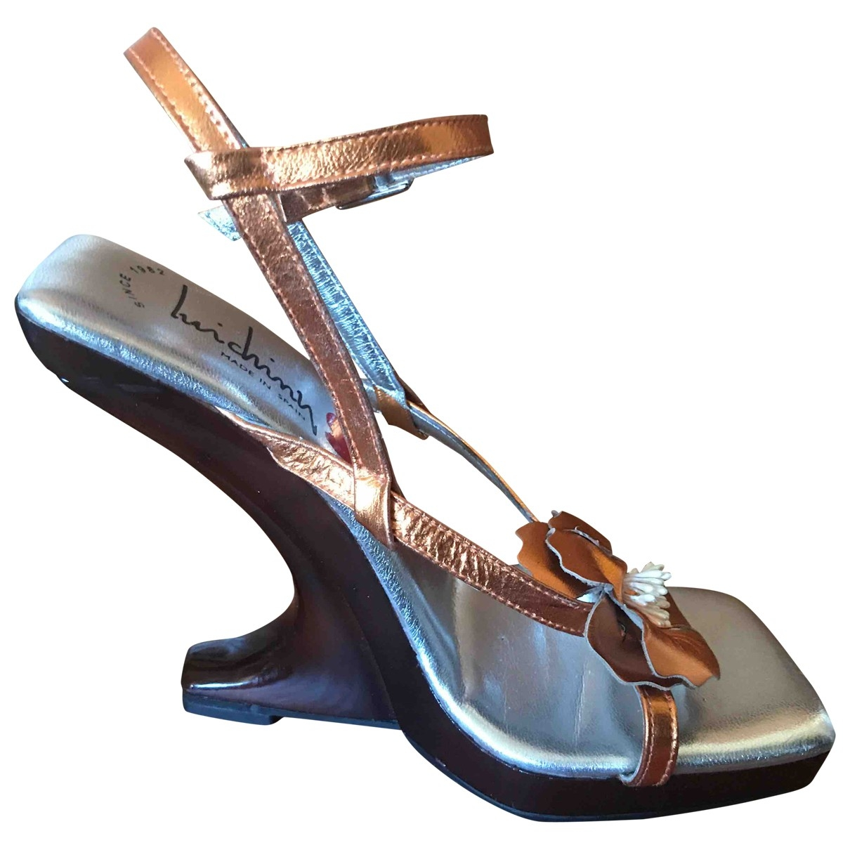 Non Signé / Unsigned \N Metallic Leather Sandals for Women 35 EU