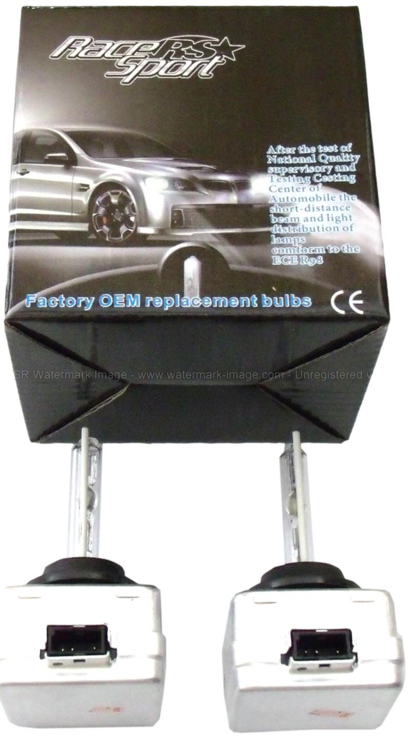 Race Sport Lighting D3-6K-SB-RB D3 6K OEM Factory HID Replacement Bulbs