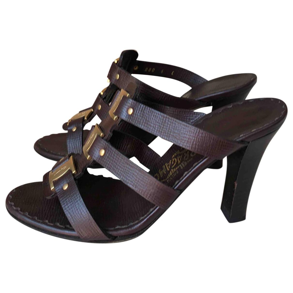Salvatore Ferragamo \N Brown Leather Sandals for Women 36 EU