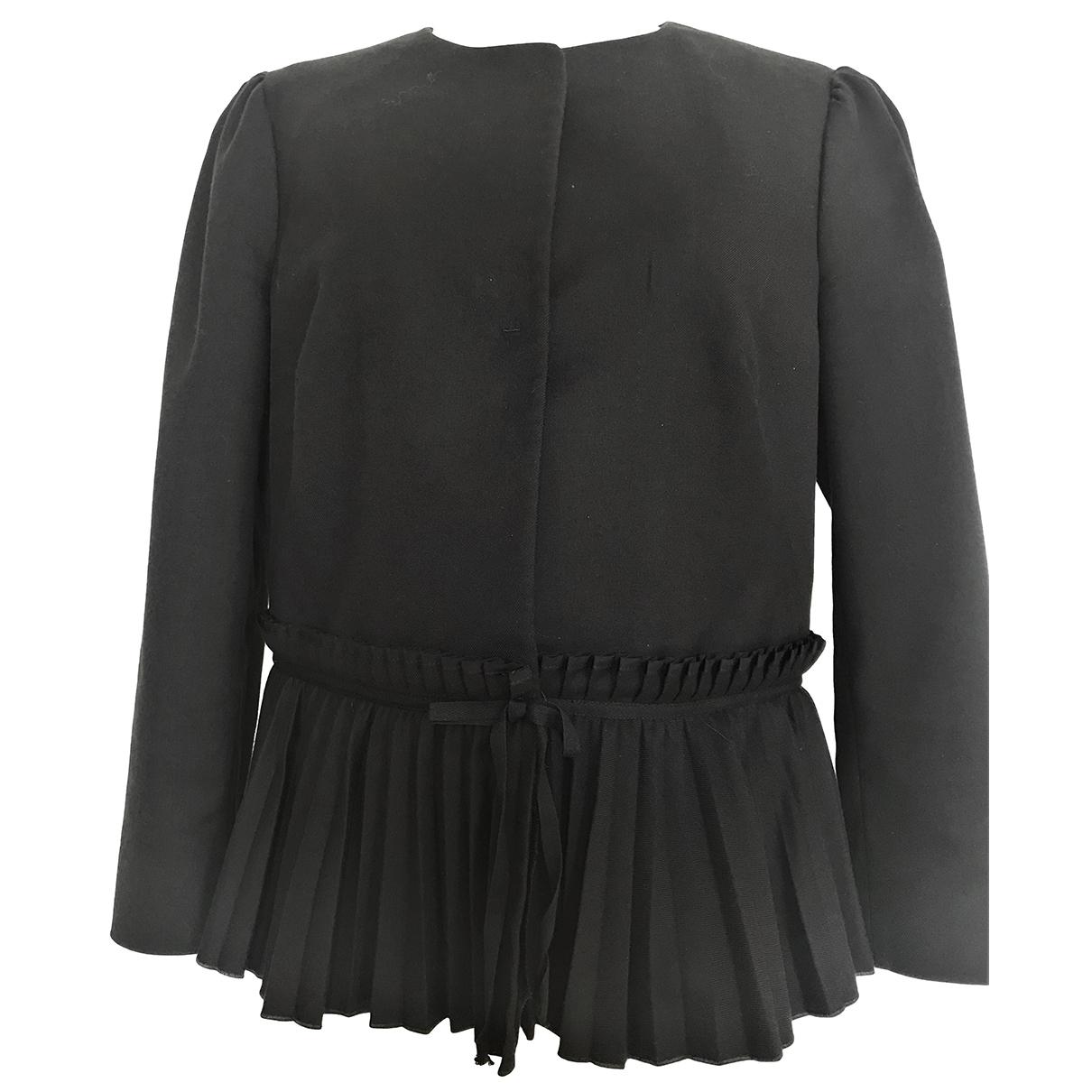 Red Valentino Garavani \N Black Cotton jacket for Women 46 IT