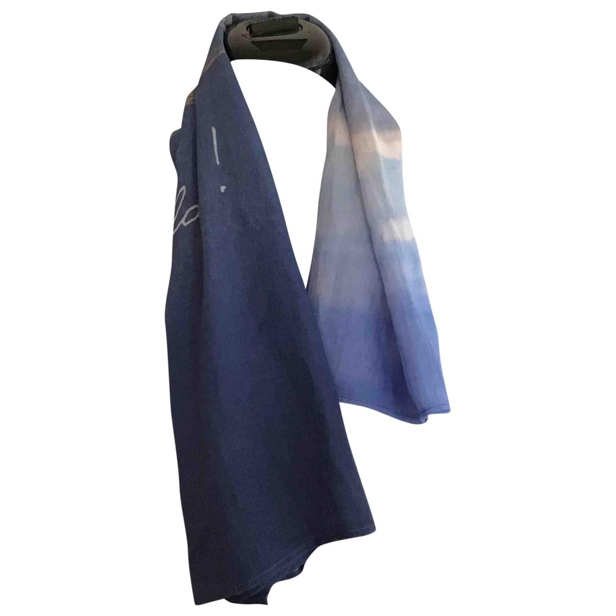 Agnès B. \N Blue Silk handkerchief for Women \N