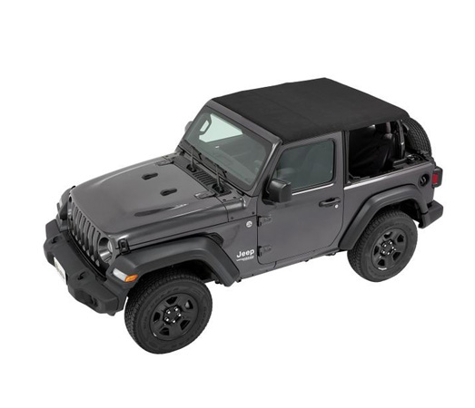 Bestop 56862-35 Black Diamond Trektop Soft Top Jeep Wrangler 2-Door 2018-2021