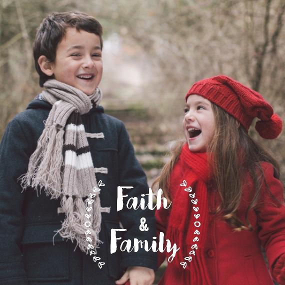 Family + Friends 12x12 Designer Print - Matte, Prints -Faith and Family