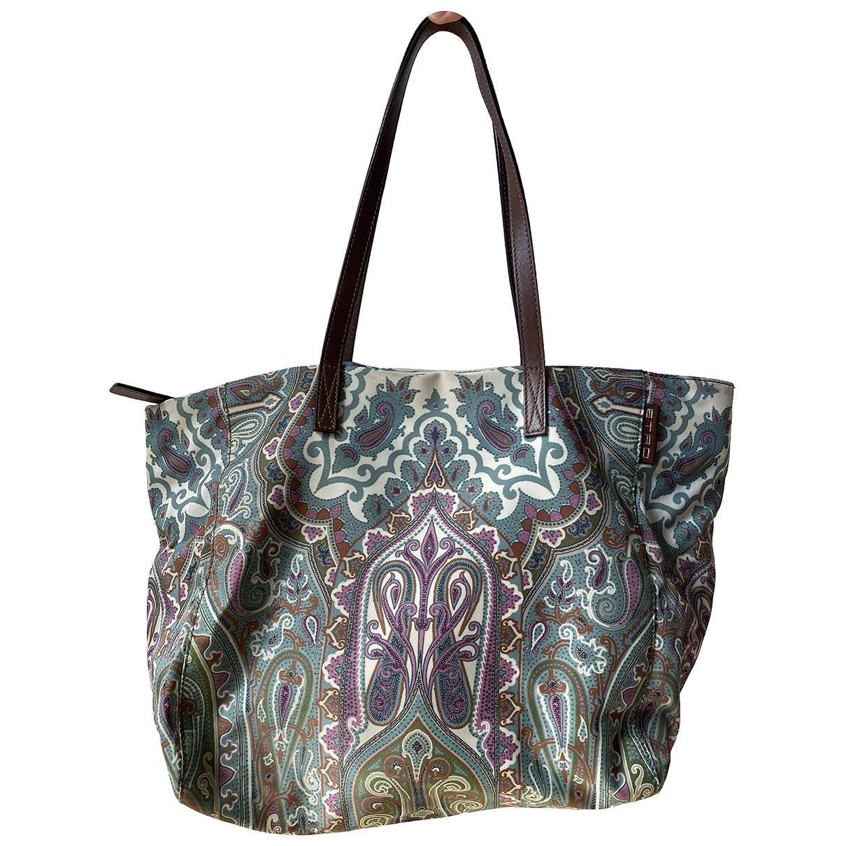 Etro \N Green Cotton handbag for Women \N