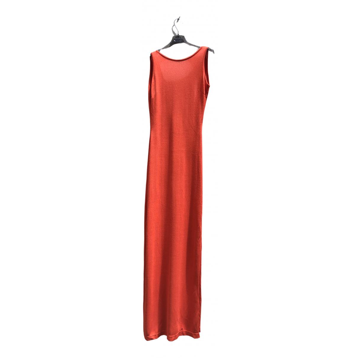 Non Signé / Unsigned \N Orange Silk dress for Women S International