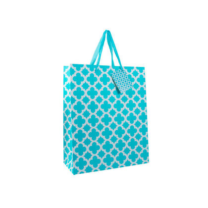 Gift Bag Present Bag Blue Medium Size 7
