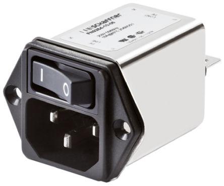 Schaffner , FN9264 6A 250 V ac 400Hz, Flange Mount EMI Filter, Tab