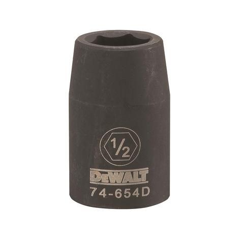 DeWalt 1/2 Drive X 1/2 6PT Standard Impact Socket