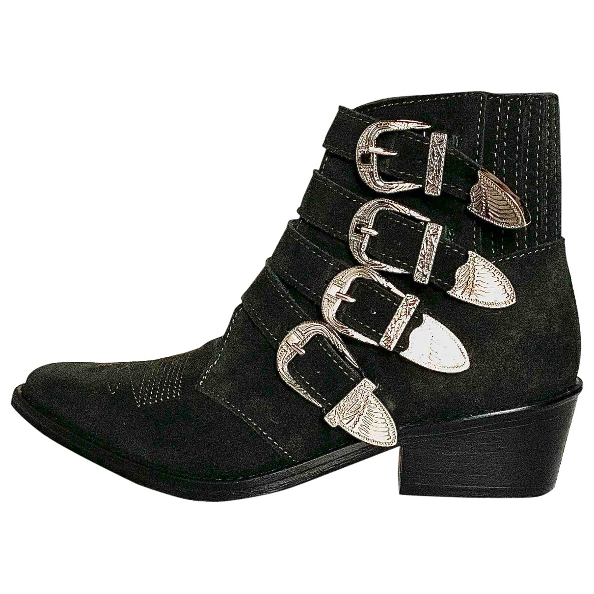 Toga Archives \N Green Suede Ankle boots for Women 36 EU