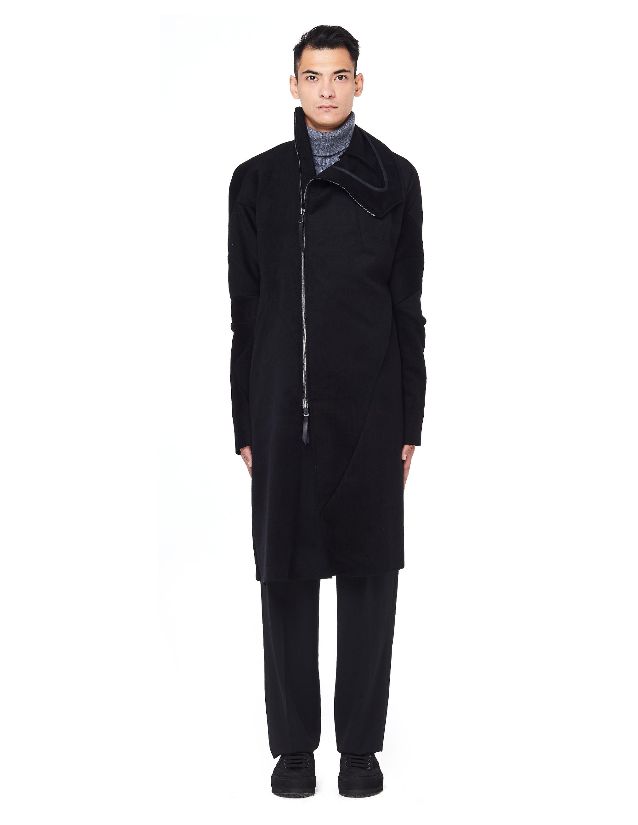 Leon Emanuel Blanck Stand-up Collar Wool Coat