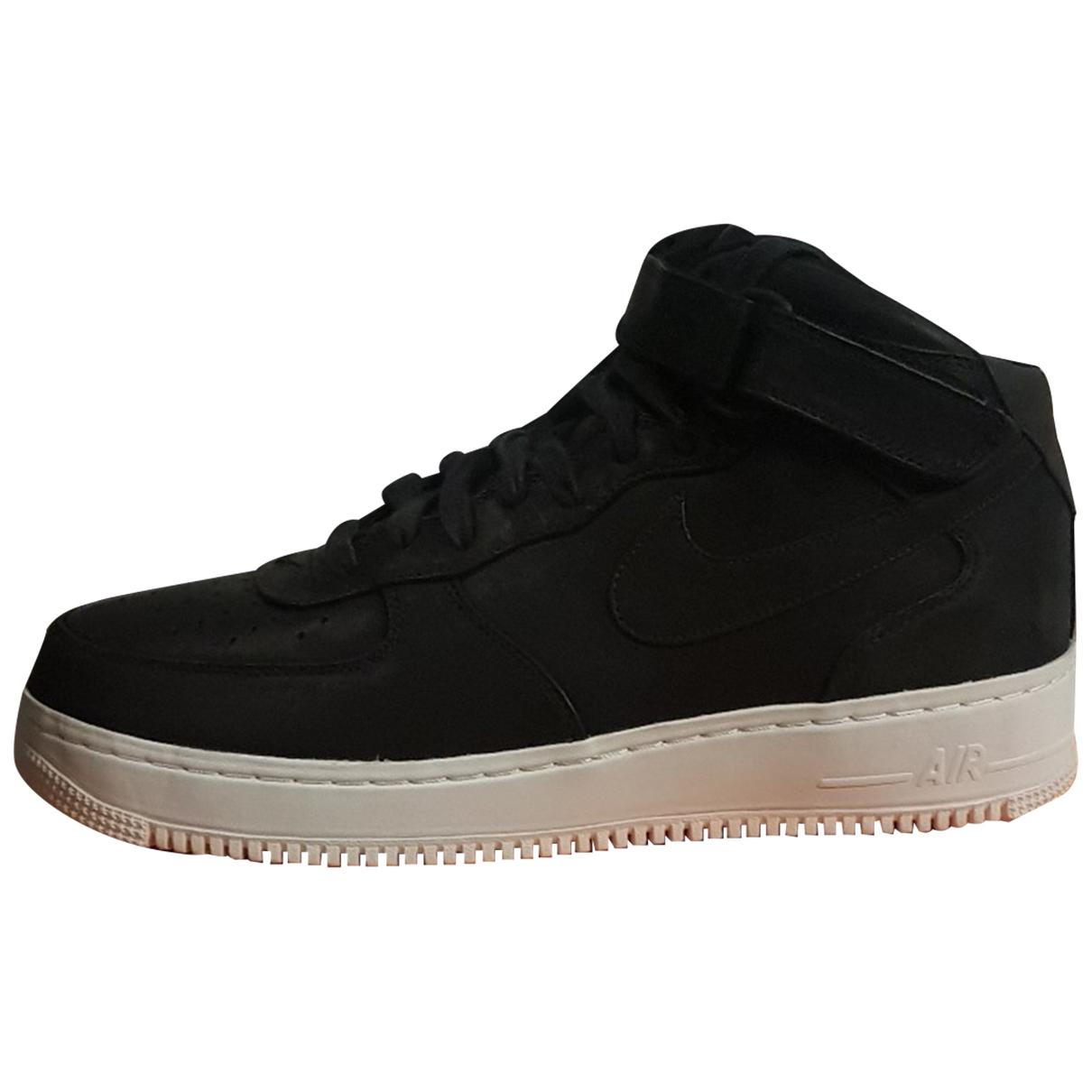 Nike Air Force 1 Black Leather Trainers for Men 47 EU