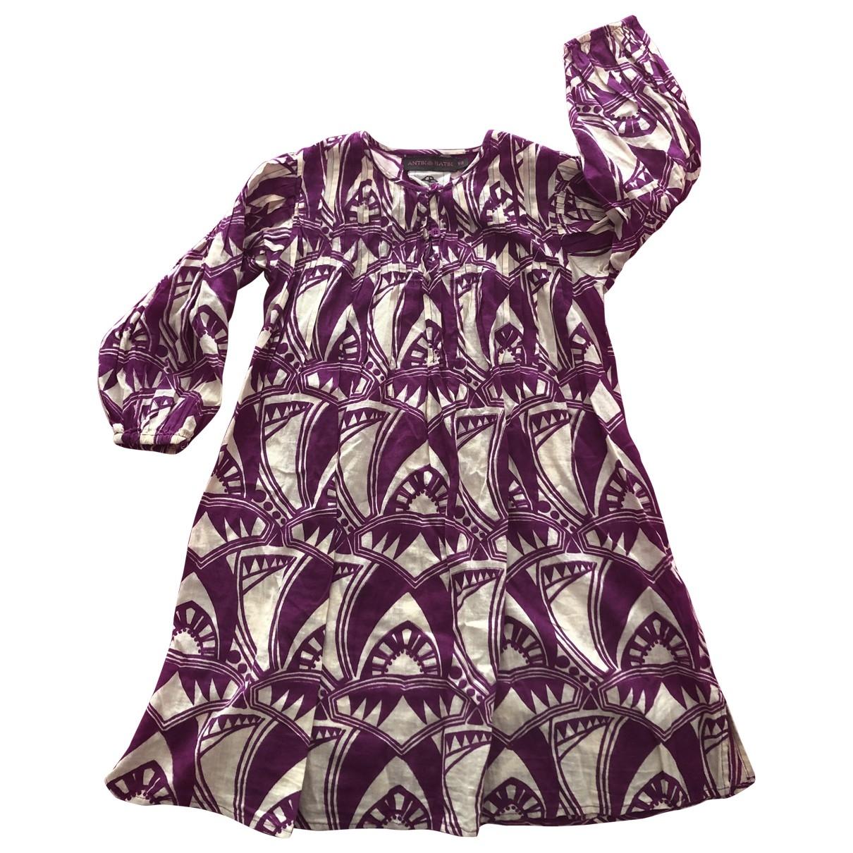 Antik Batik \N Pink Cotton dress for Kids 4 years - up to 102cm FR