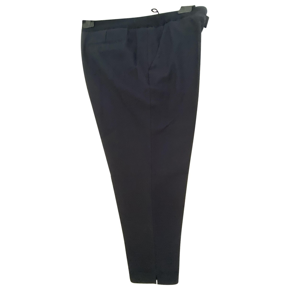 Gerard Darel \N Navy Cotton Trousers for Women 46 FR
