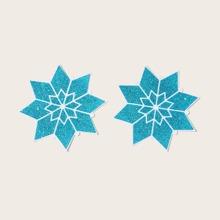1pair Snowflake Nipple Cover