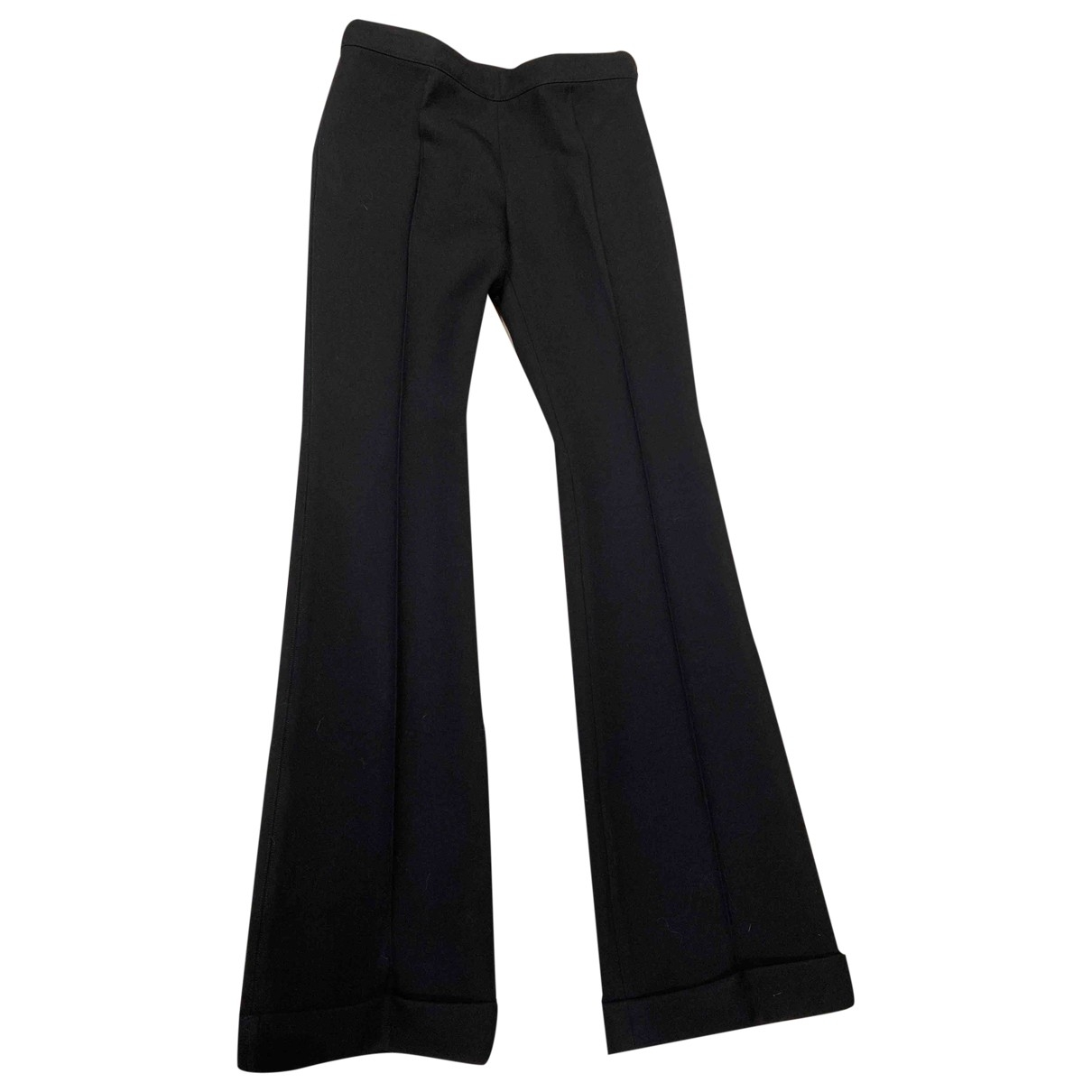 Balenciaga \N Black Wool Trousers for Women 36 FR