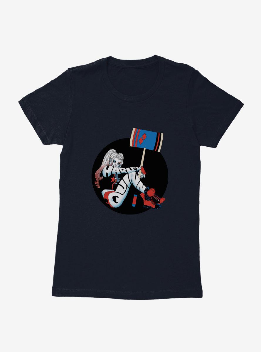 DC Comics Batman Harley Quinn Circle Photo Womens T-Shirt