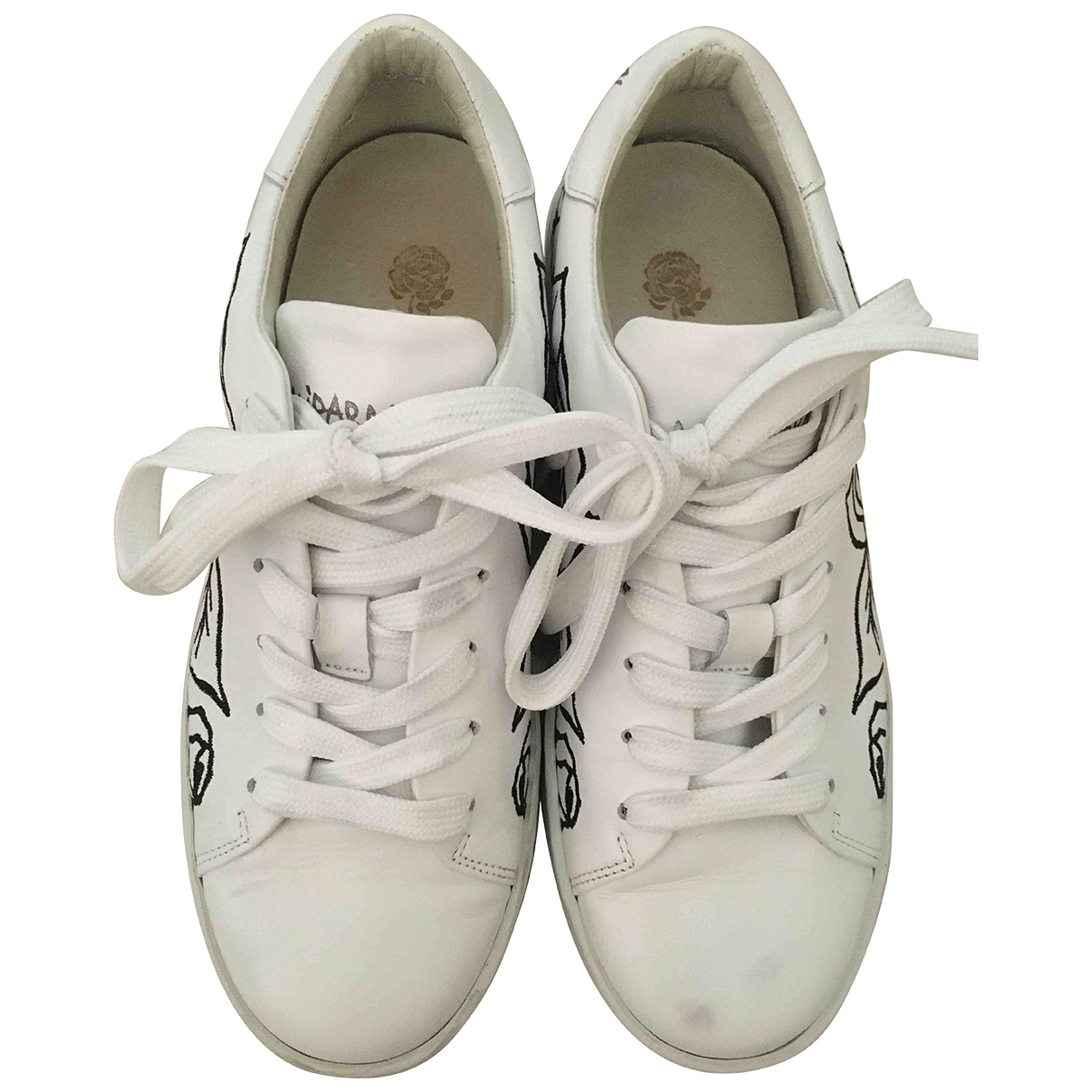 Maliparmi \N White Leather Trainers for Women 36 IT