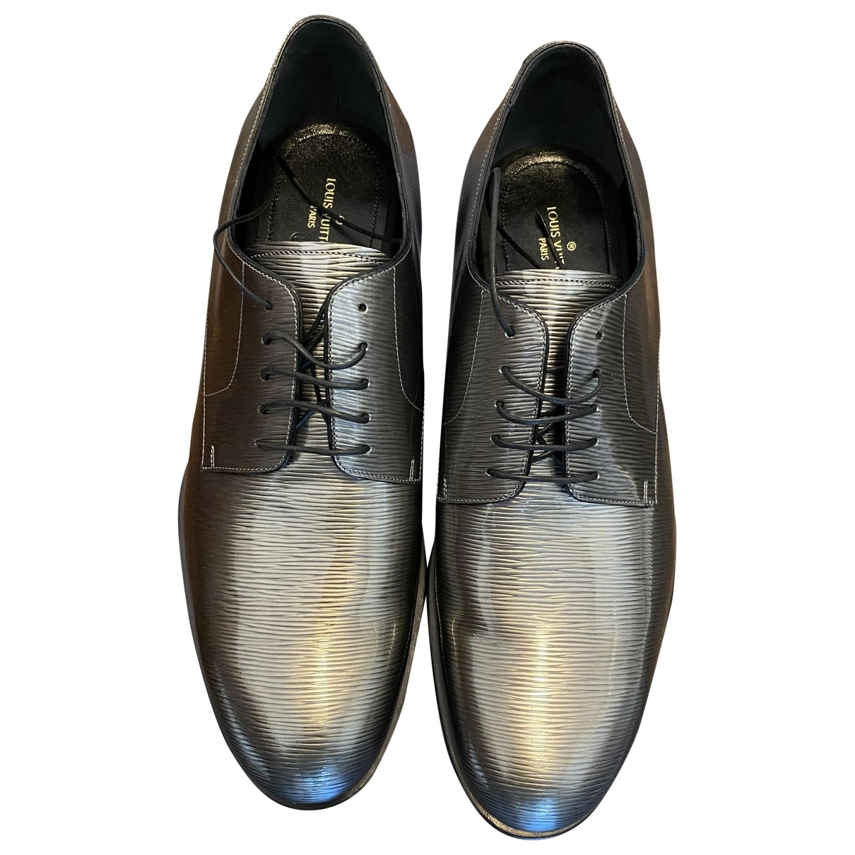 Louis Vuitton \N Grey Leather Lace ups for Men 9 UK
