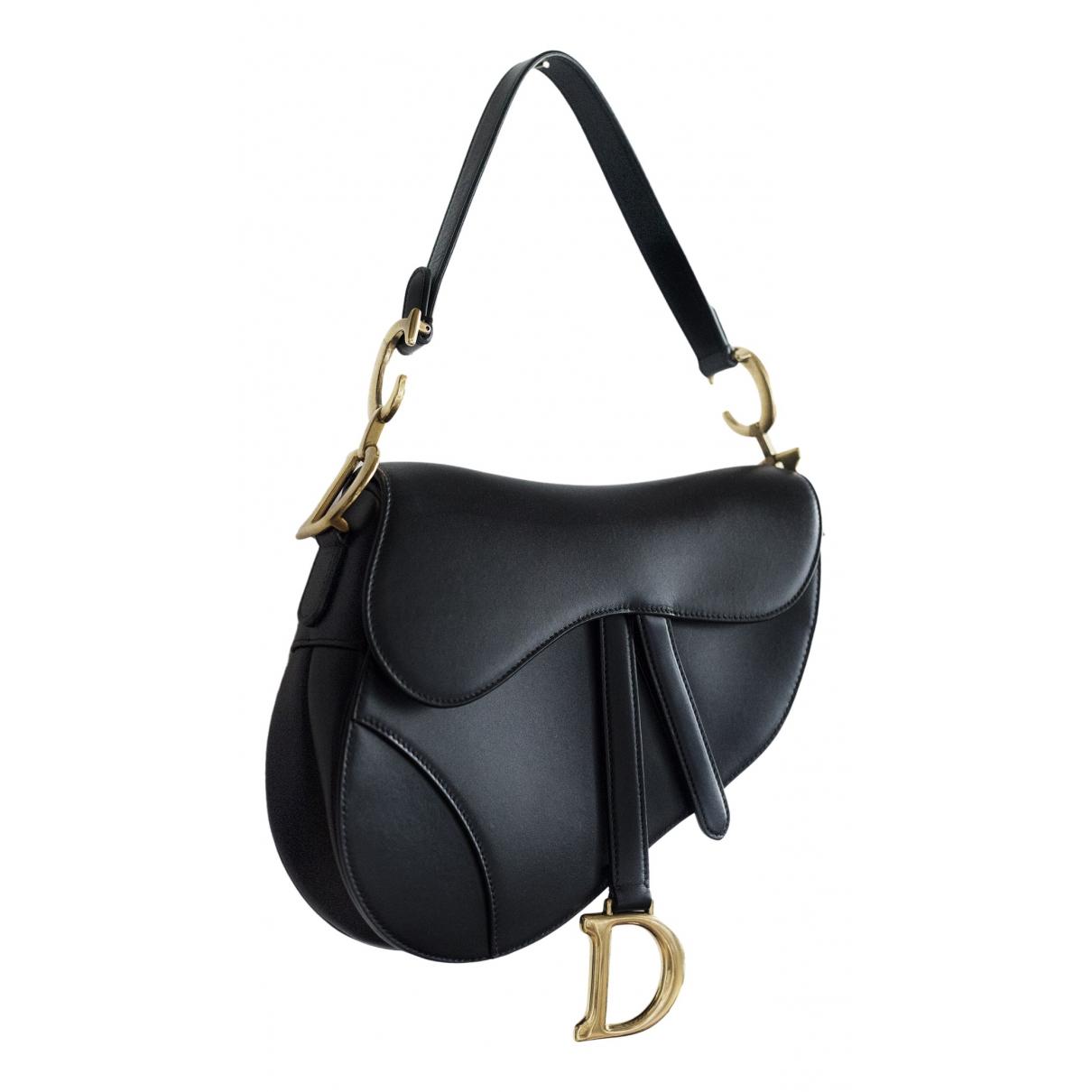 Dior Saddle Black Leather handbag for Women \N