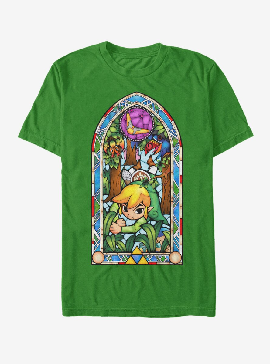 Nintendo Legend of Zelda Stained Glass Forest T-Shirt