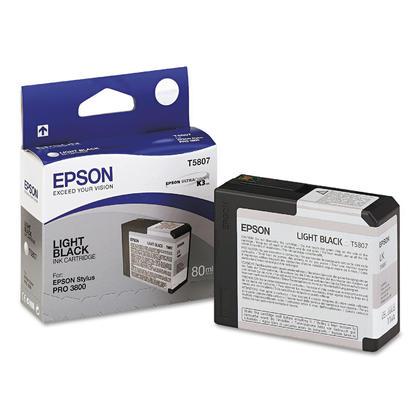 Epson T580700 cartouche d'encre UltraChrome originale noire clair pour l'imprimante Stylus 3800