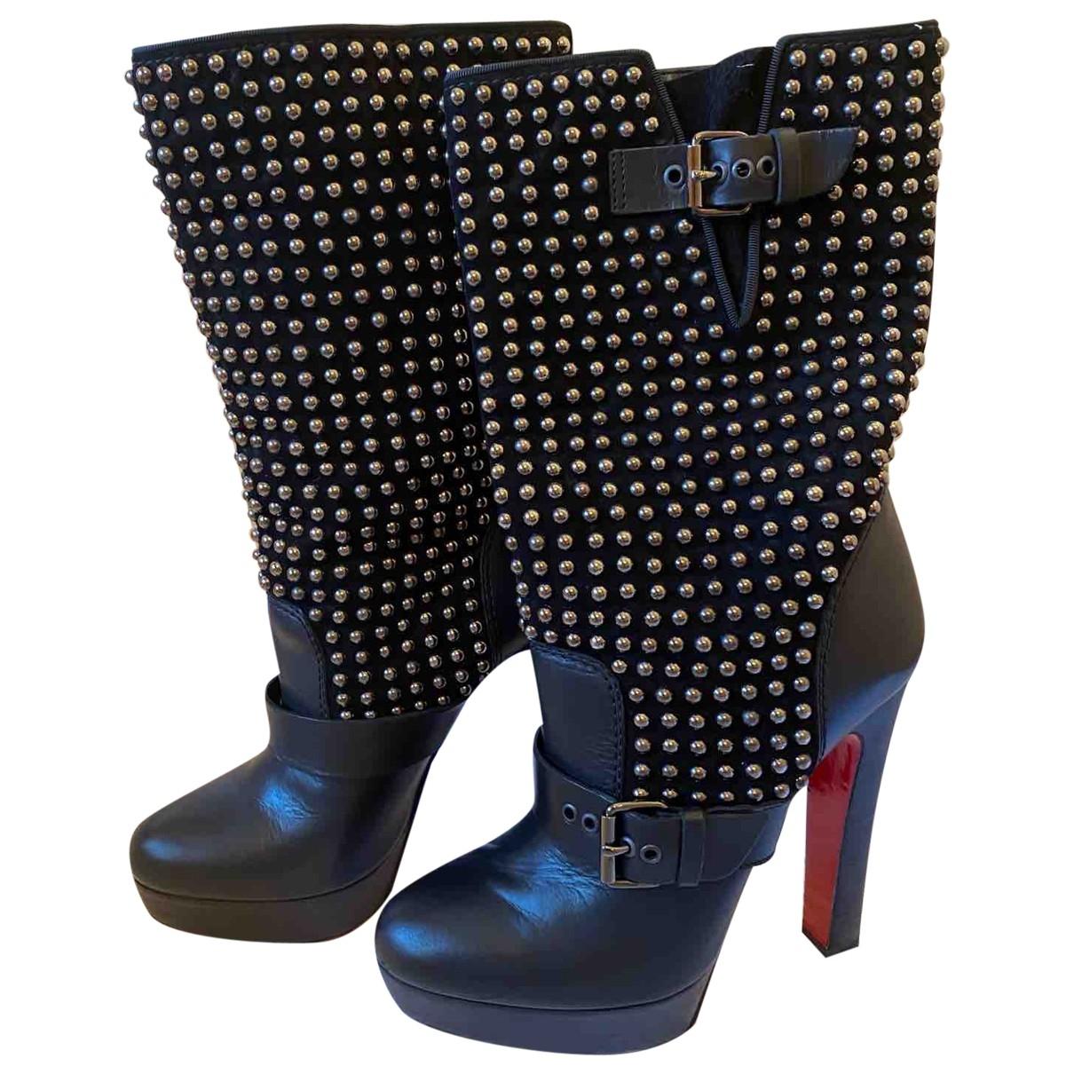 Christian Louboutin \N Black Leather Boots for Women 40 EU