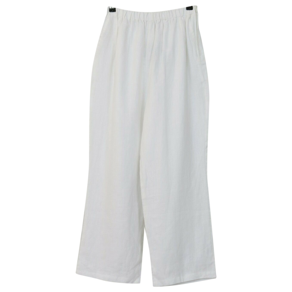 Non Signé / Unsigned \N White Linen Trousers for Women S International